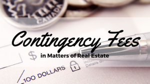 contingency fee in real estate