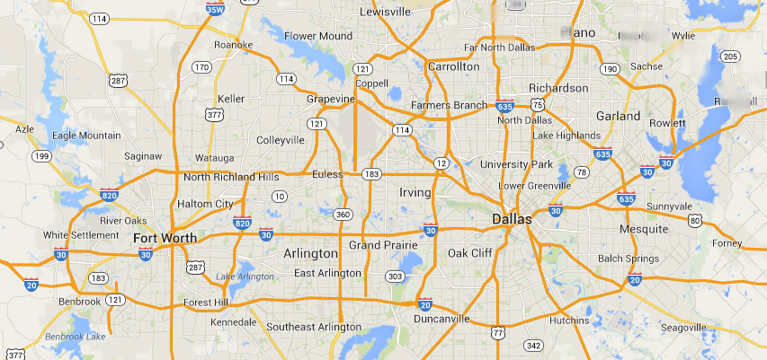 Image result for DFW map